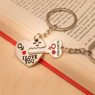 Llavero llave y corazón...